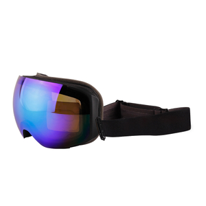 Blue Magnetic Polarized Women Ski Goggles over Glasses