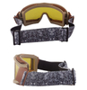 Transparent Tinted Frame Shooting Military Goggles Cover Helmet