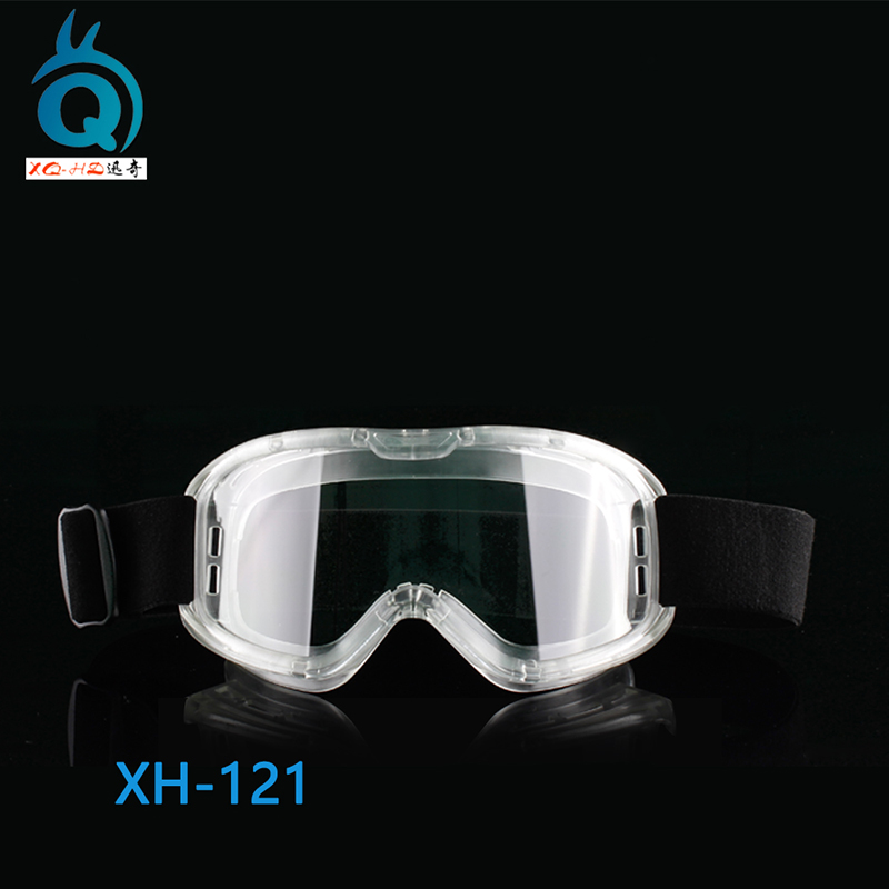 Full Coverage Clear Safety Goggles with Vent Hole